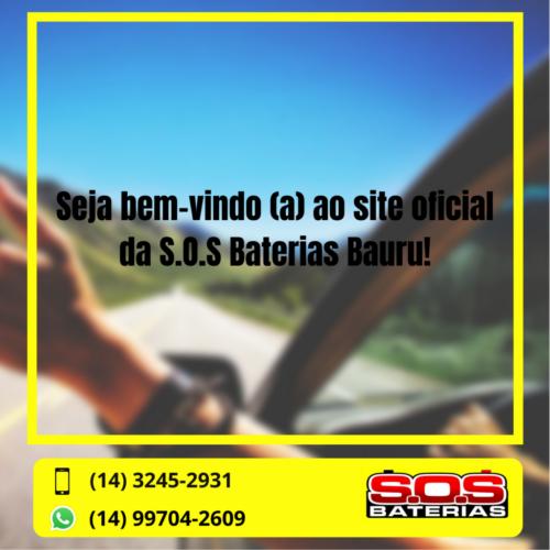SOS BATERIAS, BANNER BOAS VINDAS